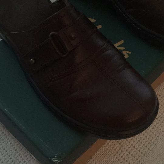Clarks Brown Mules Image 8