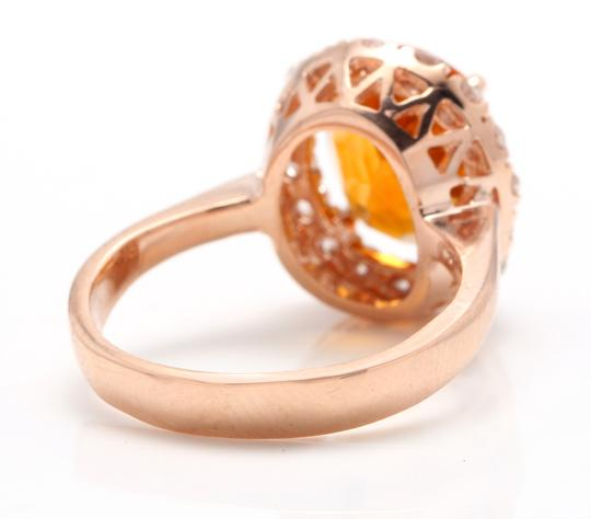 Other 2.70Ct Natural Madeira Citrine and Diamond 14K Solid Rose Gold Ring Image 3