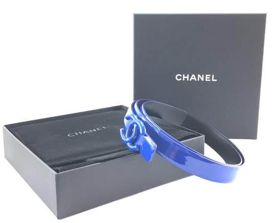 Chanel CC logo buckle Patent and leather reversible Belt size 85 34 Image 1