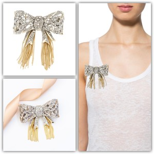 Alexis Bittar Alexis Bittar Mosaic Lace Bow Brooch Pin