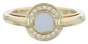 Movado Movado Mother of Pearl Diamond Halo Ring - 18k Size 6.5