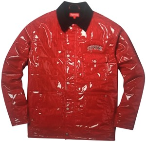 Supreme Red Leather Jacket