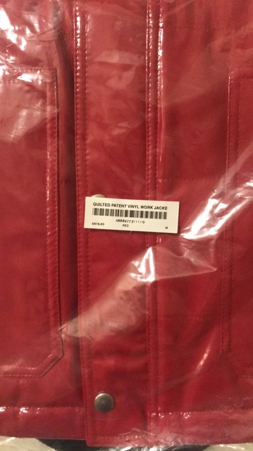 Supreme Red Leather Jacket Image 1