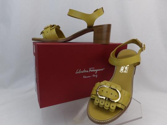 Salvatore Ferragamo Yellow Sandals Image 1