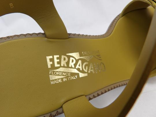 Salvatore Ferragamo Yellow Sandals Image 10