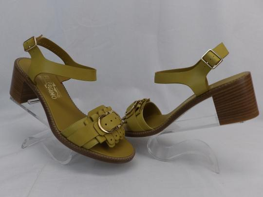 Salvatore Ferragamo Yellow Sandals Image 3