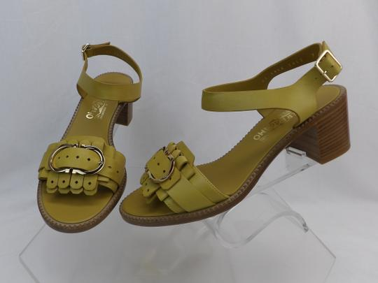 Salvatore Ferragamo Yellow Sandals Image 4