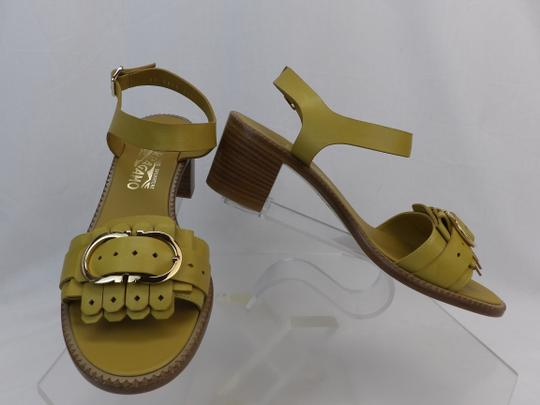 Salvatore Ferragamo Yellow Sandals Image 5