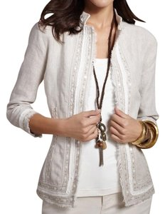 Chico's Embellished Beige Jacket