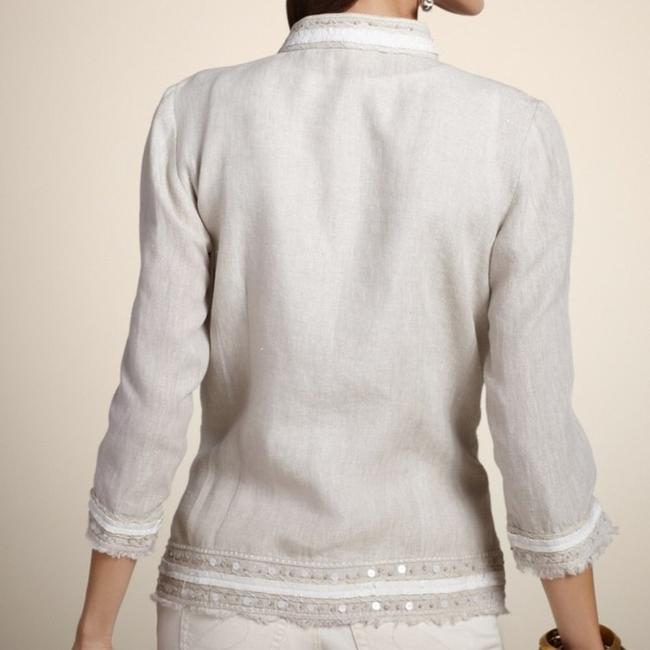Chico's Embellished Beige Jacket Image 1
