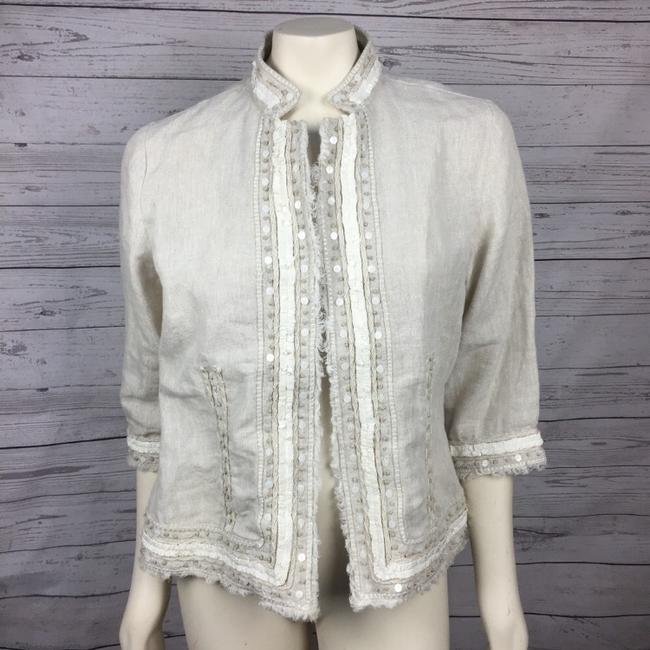 Chico's Embellished Beige Jacket Image 2