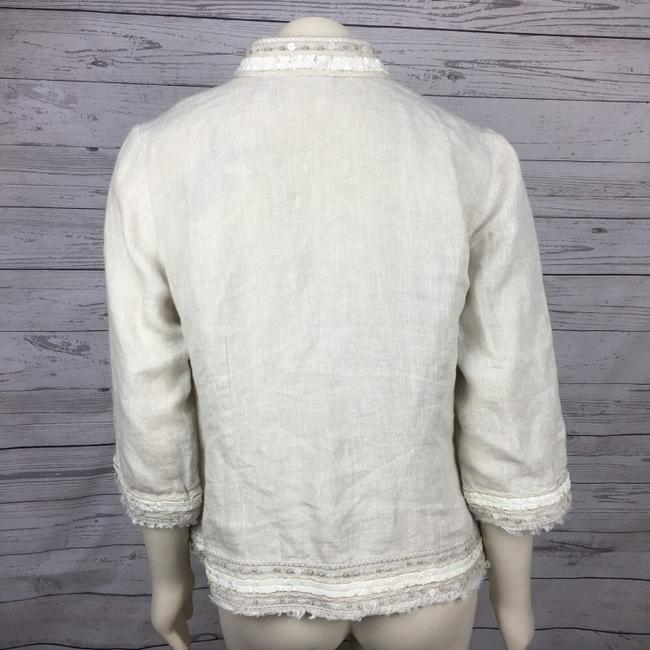 Chico's Embellished Beige Jacket Image 4