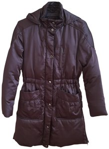 Via Spiga Winter Puffer Satin Parka Coat