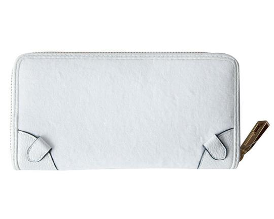Juicy Couture Juicy Couture White Ibiza Velour Continental Zip Around Wallet Clutch Image 1