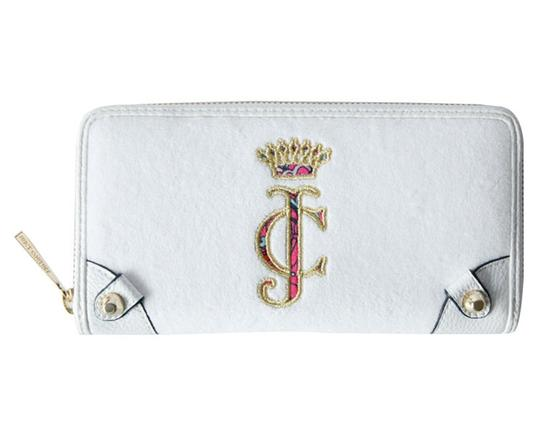 Juicy Couture Juicy Couture White Ibiza Velour Continental Zip Around Wallet Clutch Image 2