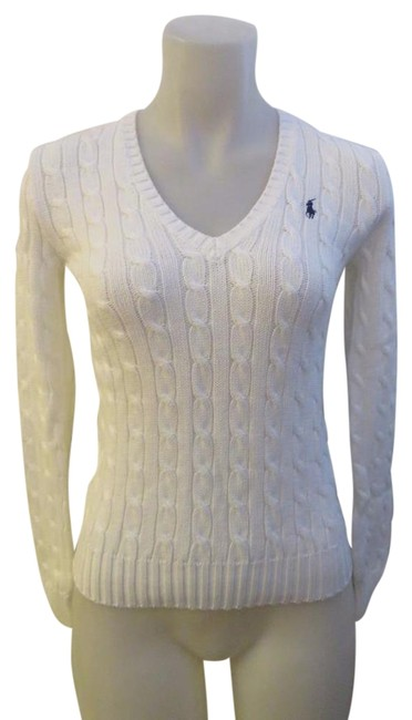 Ralph Lauren Cable Knit White Sweater Ralph Lauren Cable Knit White Sweater Image 1