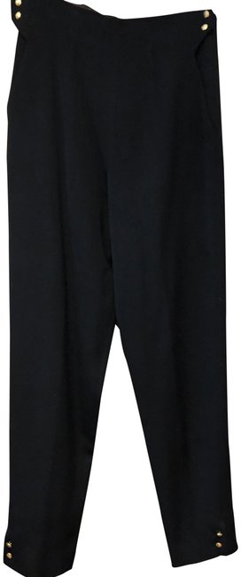 Preload https://img-static.tradesy.com/item/24348727/ralph-lauren-blue-label-black-dress-with-gold-at-the-waist-and-cuff-pants-size-4-s-27-0-1-650-650.jpg