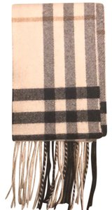 Burberry Beige Burberry Cashmere Scarf with Sparkle Accent