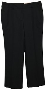 Ann Taylor Curvy Petite Wool Blend Trouser Pants Black