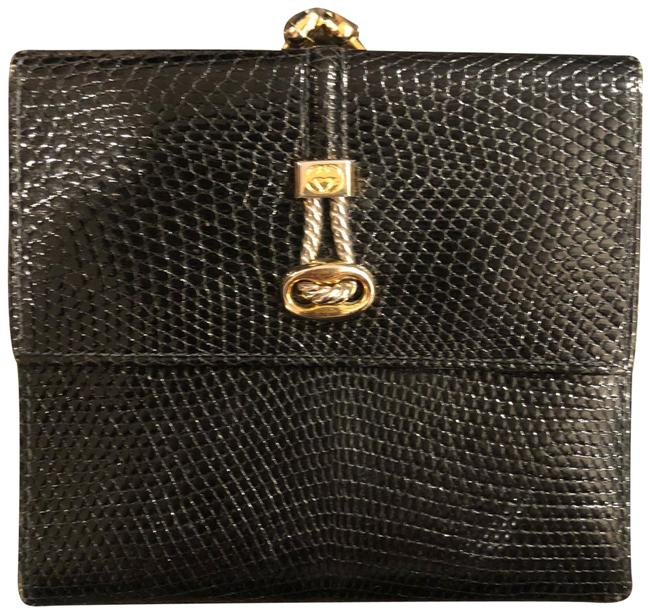 Item - Black Snakeskin with Coin Purse Wallet
