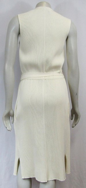 Céline Sleeveless Ribbed Knit Bow Dress Image 1