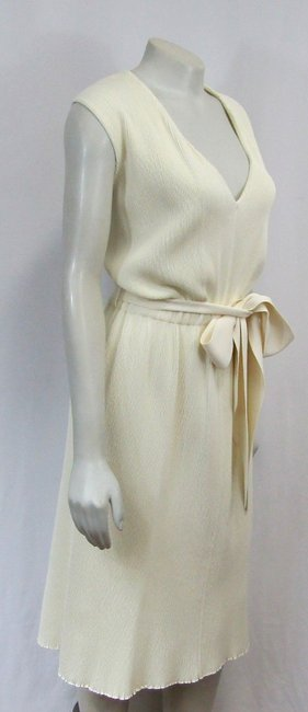Céline Sleeveless Ribbed Knit Bow Dress Image 3