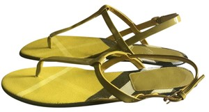 Burberry yellow green brown Sandals