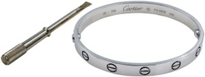 Cartier Love Bracelet Bangle Size 16 18K White Gold