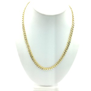 Other 10kt yellow gold two tone cuban link chain