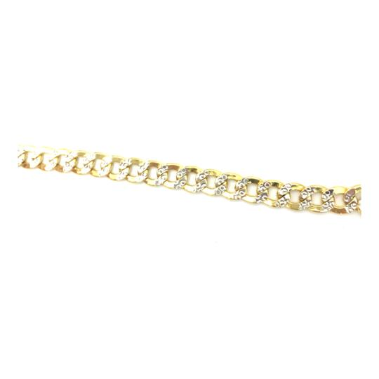 Other 10kt yellow gold two tone cuban link chain Image 2
