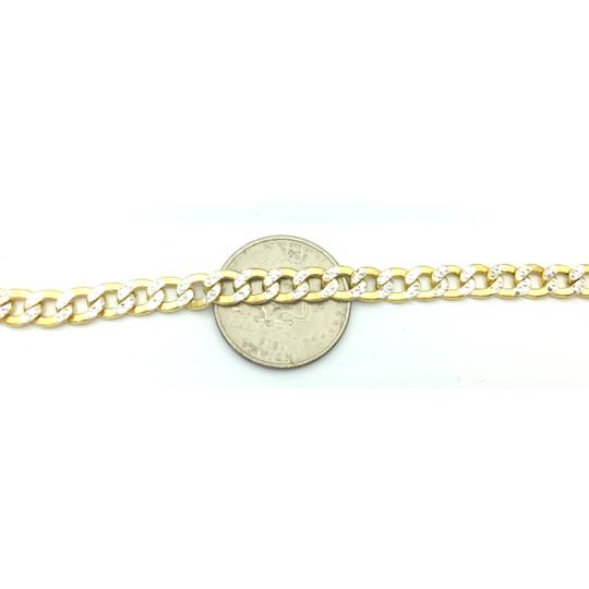 Other 10kt yellow gold two tone cuban link chain Image 4