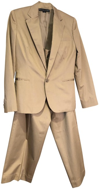Preload https://img-static.tradesy.com/item/24348969/ralph-lauren-camel-silkcotton-with-cropped-pant-suit-size-10-m-0-1-650-650.jpg