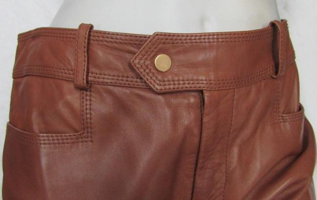 Gucci Leather Straight Pants Camel honey Image 1
