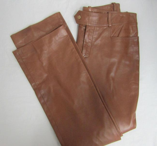 Gucci Leather Straight Pants Camel honey Image 2