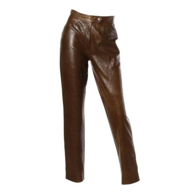Gucci Leather Straight Pants Camel honey Image 8