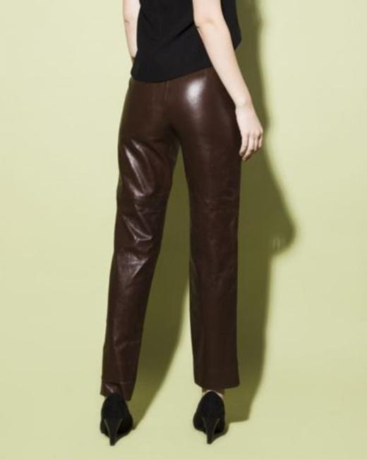 Gucci Leather Straight Pants Camel honey Image 9