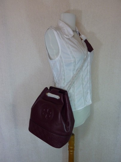Tory Burch Tote in Burgundy Image 6