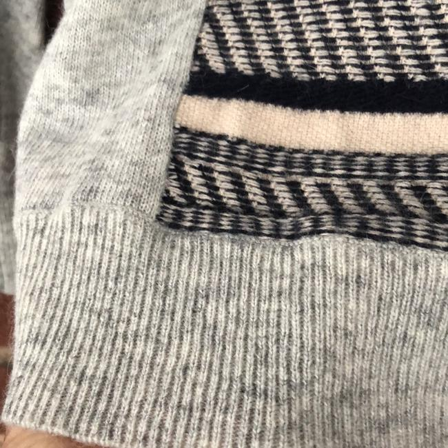 J.CREW Textured Stripe Gray Sweater Small S Sweater Image 3