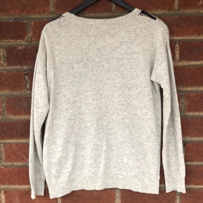 J.CREW Textured Stripe Gray Sweater Small S Sweater Image 4