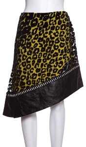 Mugler Skirt Black & Yellow