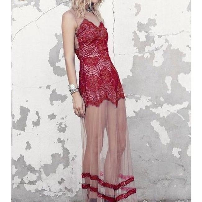 Red Maxi Dress by For Love & Lemons Image 2