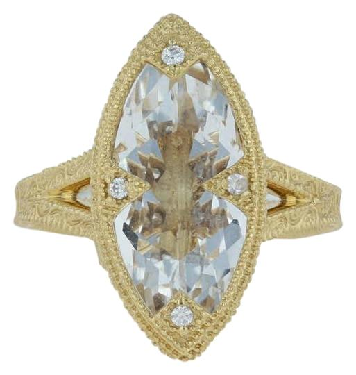 Preload https://img-static.tradesy.com/item/24349194/jude-frances-yellow-gold-402ctw-topaz-and-diamond-18k-675-floral-ring-0-2-540-540.jpg