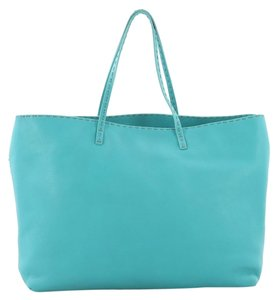 Fendi Leather Tote in turquoise