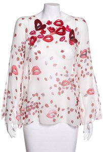Giamba Top Red & Cream