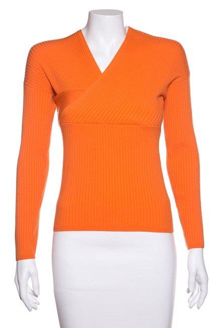 Preload https://img-static.tradesy.com/item/24349248/mugler-ribbed-knit-orange-sweater-0-0-650-650.jpg