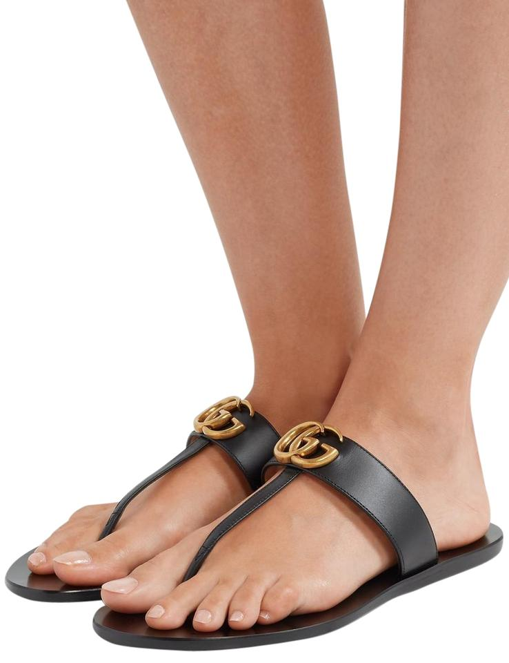 ad8c5ca95617 Gucci Marmont Leather Sandals Size EU 35 (Approx. US 5) Regular (M ...