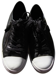 Coach Leather Zipper Fashion Sneakers Black Athletic