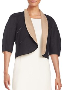 Akris Cropped Mabelle Cotton Open black nude Jacket