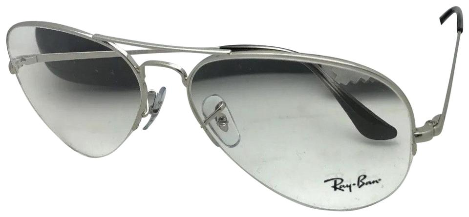 fef65325d6f Ray-Ban New Rb 6589 2501 59-15 140 Aviator Semi Rimless Silver ...