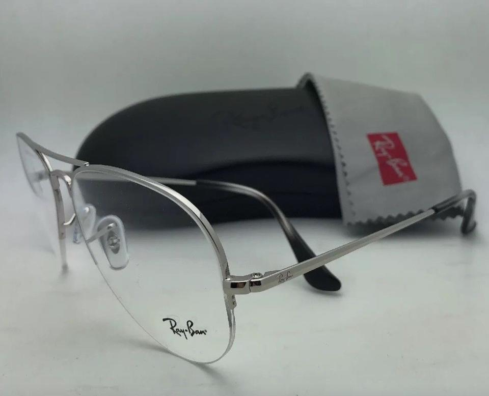 3b2d67300f2 Ray-Ban New Rb 6589 2501 59-15 140 Aviator Semi Rimless Silver Frames  Sunglasses - Tradesy